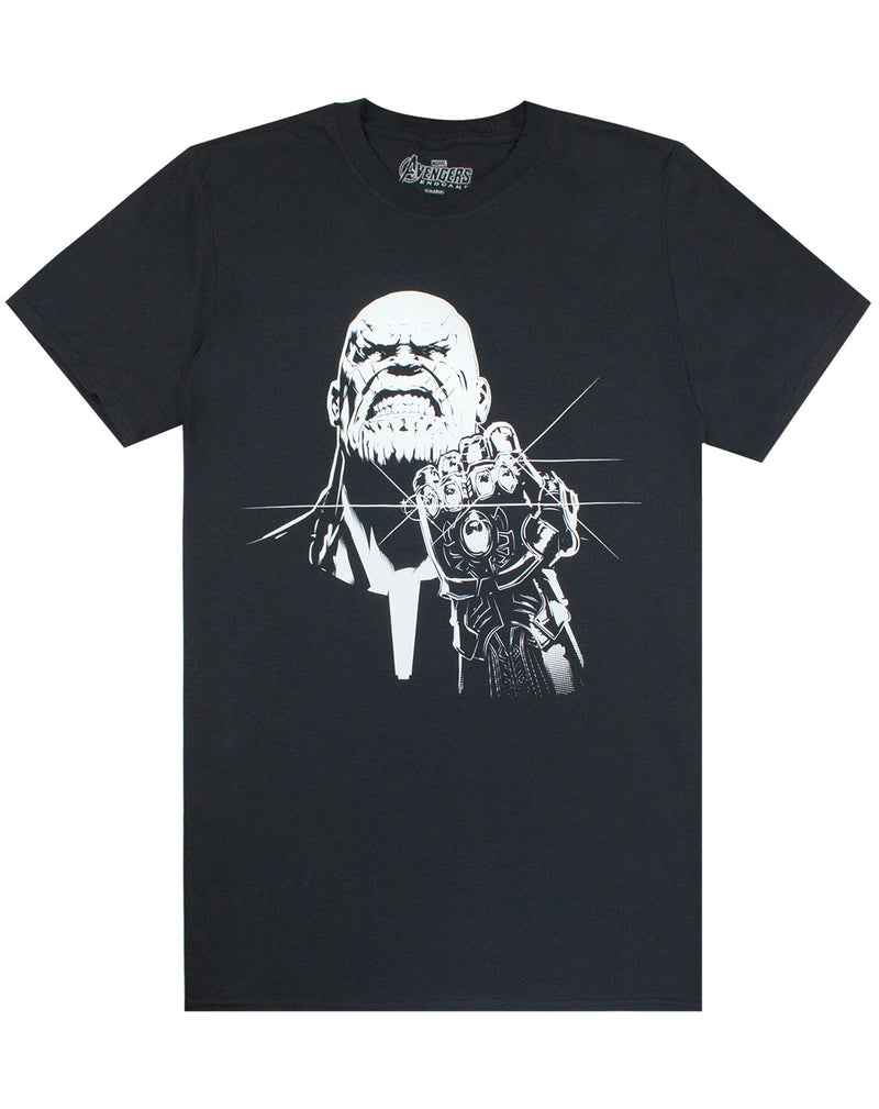 Marvel Avengers End Game Thanos Monocrome Mens T-Shirt