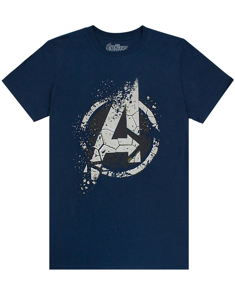 Marvel Avengers End Game Eroded A Logo Mens T-Shirt