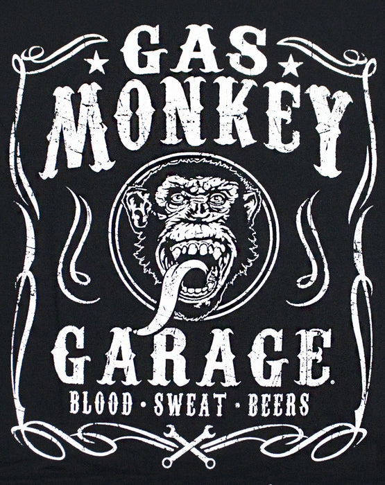 Gas Monkey Garage Blood Sweat and Beers Men's T Shirt