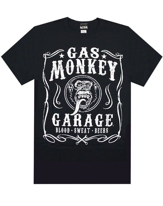 Shop Gas Monkey Garage Blood Sweat and Beers Men's T-Shirt