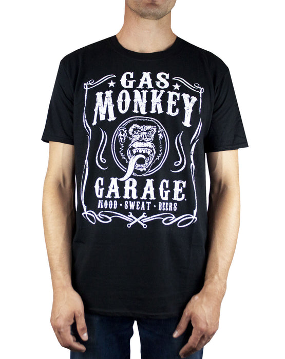 Gas Monkey Garage Blood Sweat and Beers Men's T-Shirt