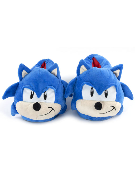 Sonic The Hedgehog 3D Face Men's Character Slippers