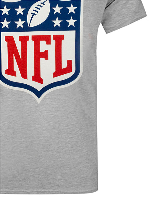 NFL Shield Logo Men's American Football Game Short Sleeve Grey T-Shirt