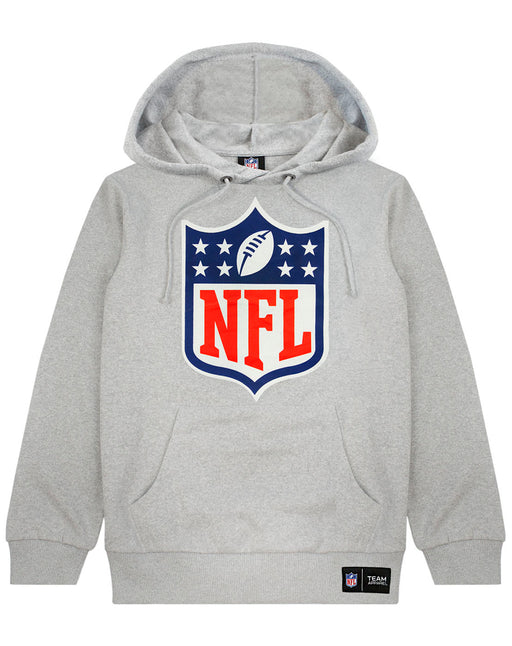 NFL Logo Hoodie American Football Men's Grey Pullover Sweater