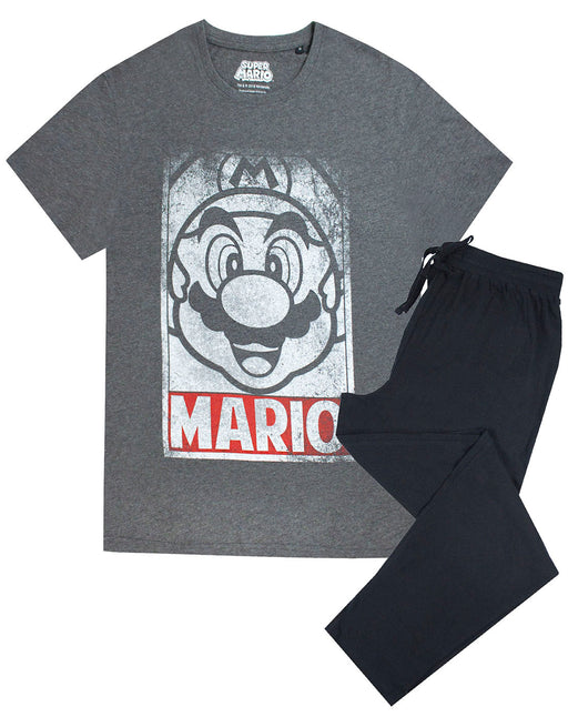 Super Mario Poster Men's Pyjama Short Sleeve T-Shirt & Lounge Pant Set