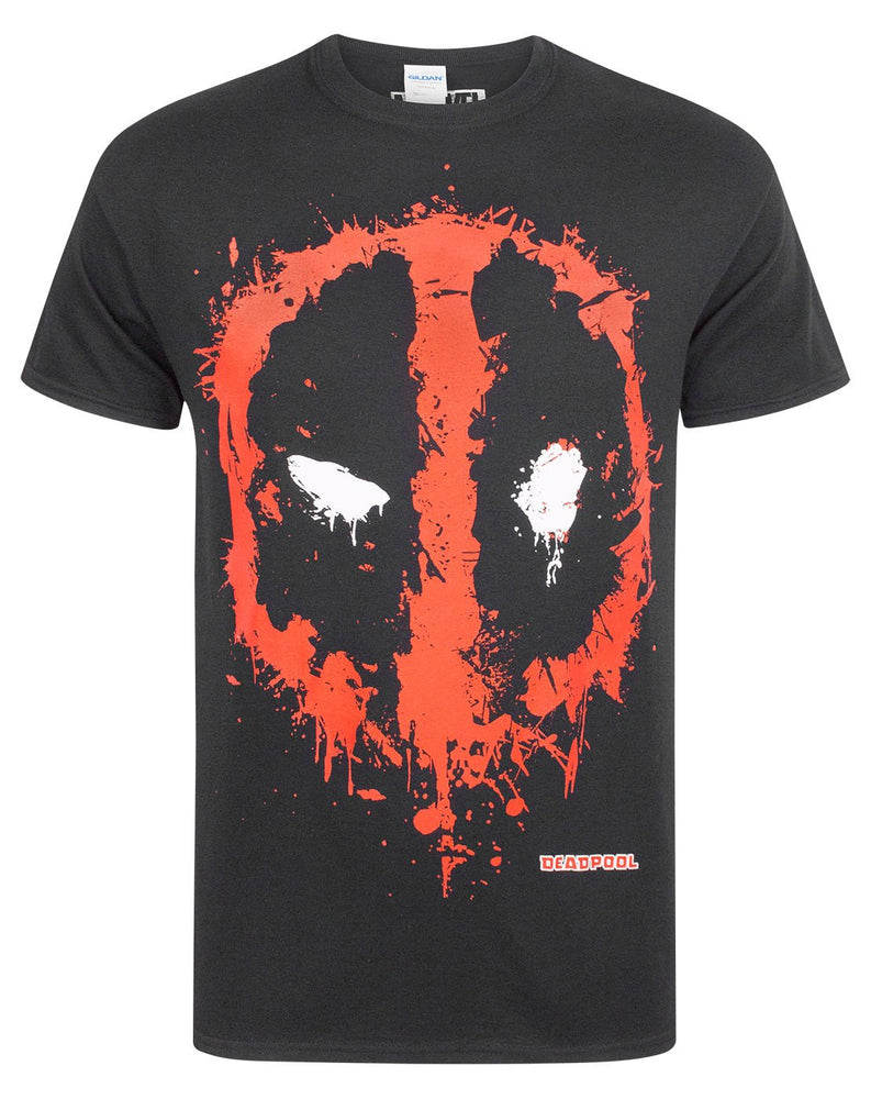 Marvel Deadpool Splat Logo Men's T-Shirt