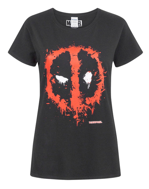 Marvel Deadpool Splat Mask Logo Women's T-Shirt