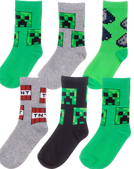 Minecraft Creeper Socks Gift Set Bundle