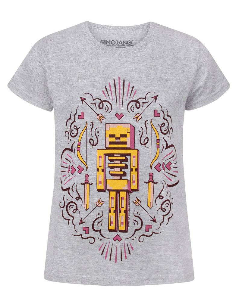 Minecraft Skelly Dreams Girl's T-Shirt