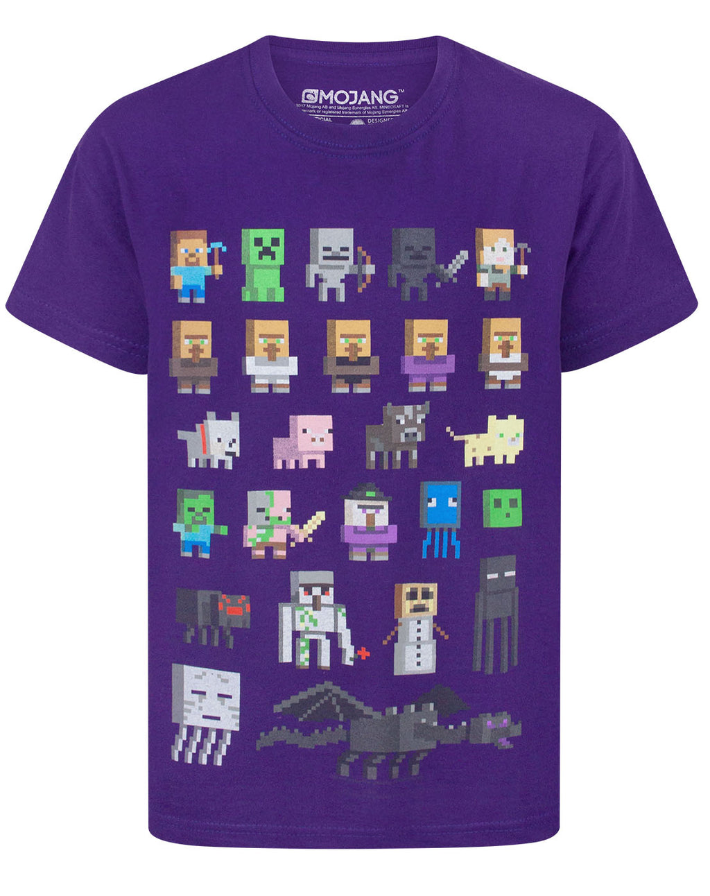 Minecraft Sprites Boy's Purple T-Shirt