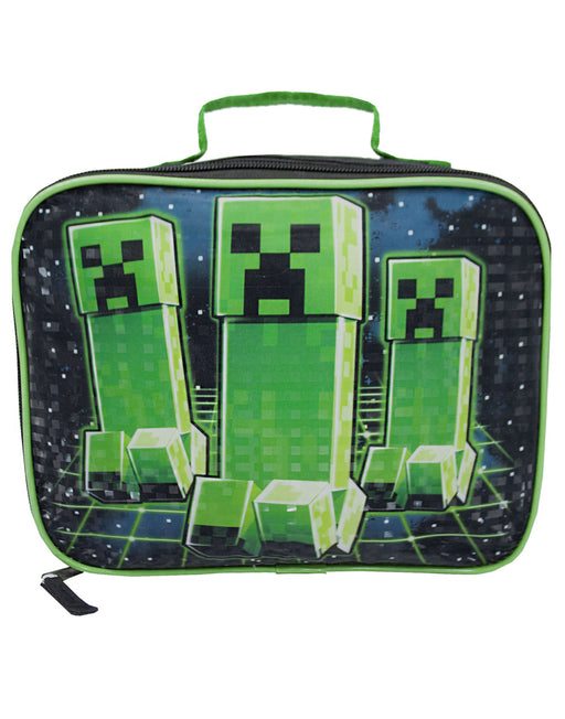 Minecraft Creeper Kids/Boys Lunch Box School Food Container Children's Bag
