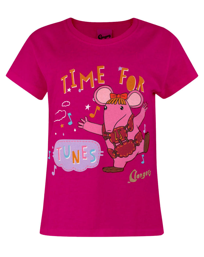 Clangers Tunes Pink Short Sleeve Girl's T-Shirt