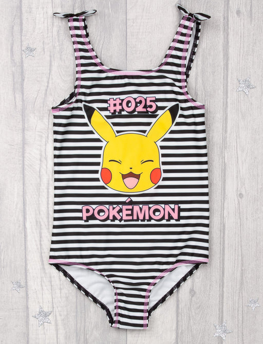 Pokemon Pikachu Swimsuit | Black & White Kid's Pikachu Swimming Costume | Children's Swimwear Suit | Pokemon Gamer Gift