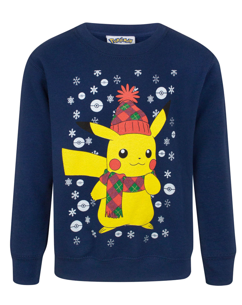 Pokemon Pikachu Kid's Christmas Sweatshirt