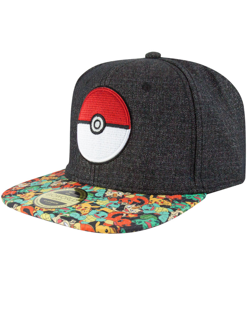Pokemon Pokeball Snapback Cap