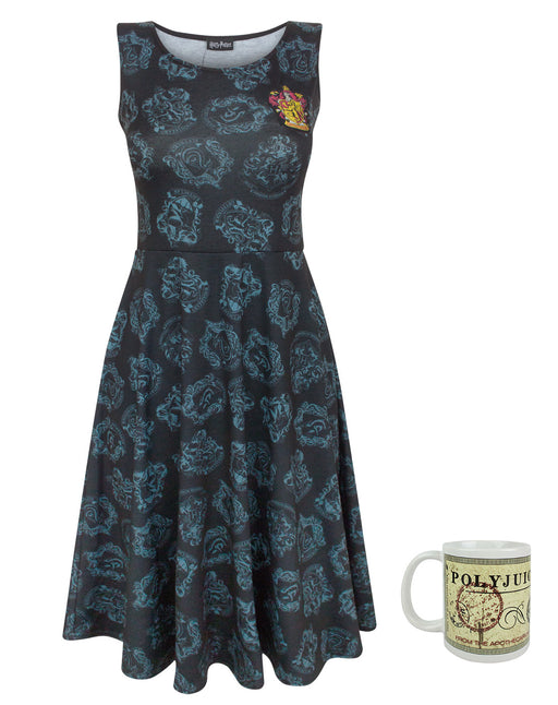 Harry Potter Gryffindor Crest Dress and polyjuice Potion Mug Gift Set Bundle