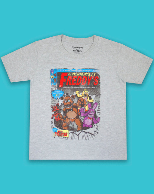 Five Nights At Freddy's Distressed Comic Print Boy's T-Shirt