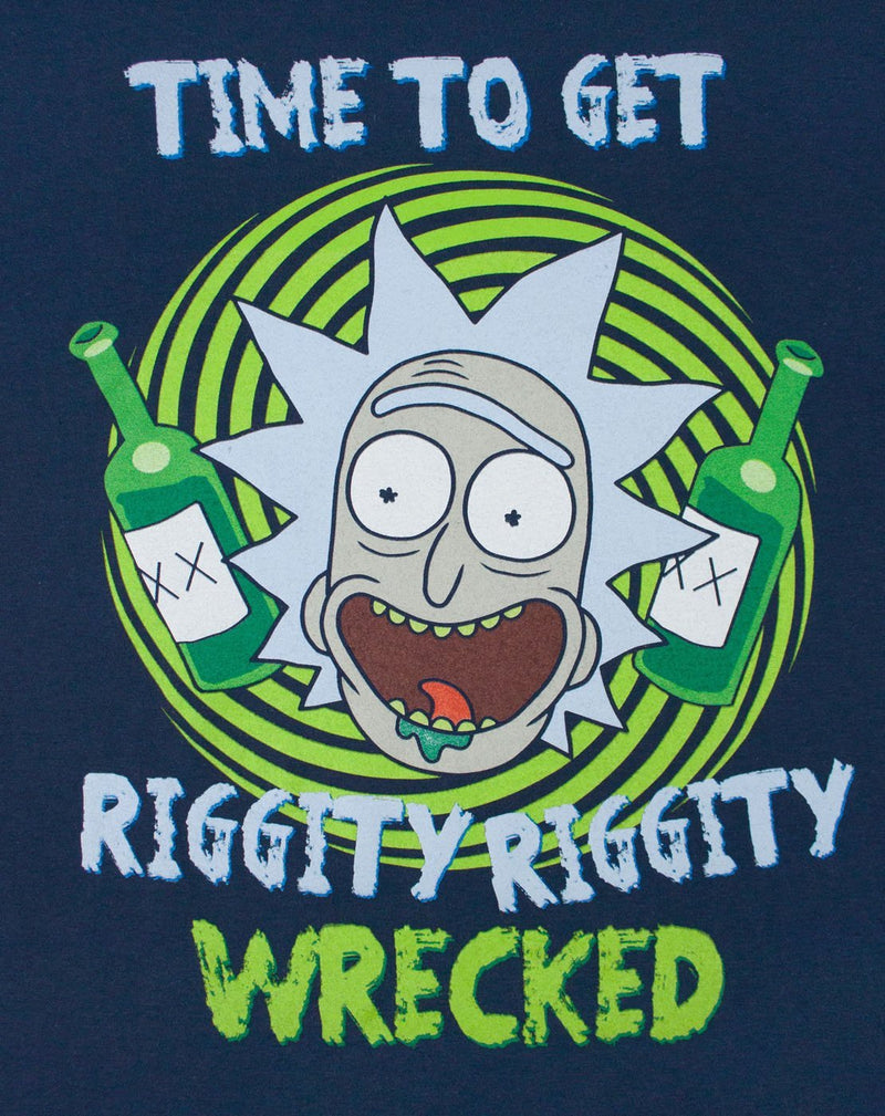 Rick And Morty Riggity Riggity Wrecked Men's T-Shirt