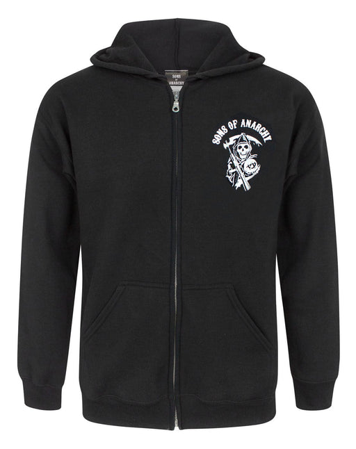 Sons Of Anarchy SAMCRO Reaper Logo Men's Zipper Hoodie Jacket