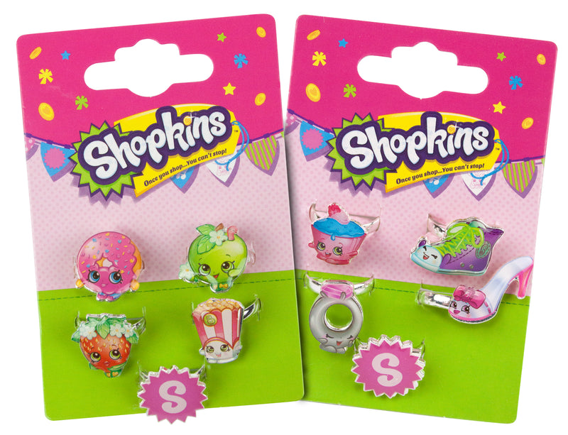 Shopkins Girls Ring Set Bundle Gift Set