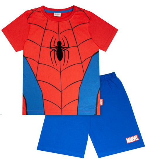 Marvel Spiderman Classic Costume Boy's Short Pyjamas