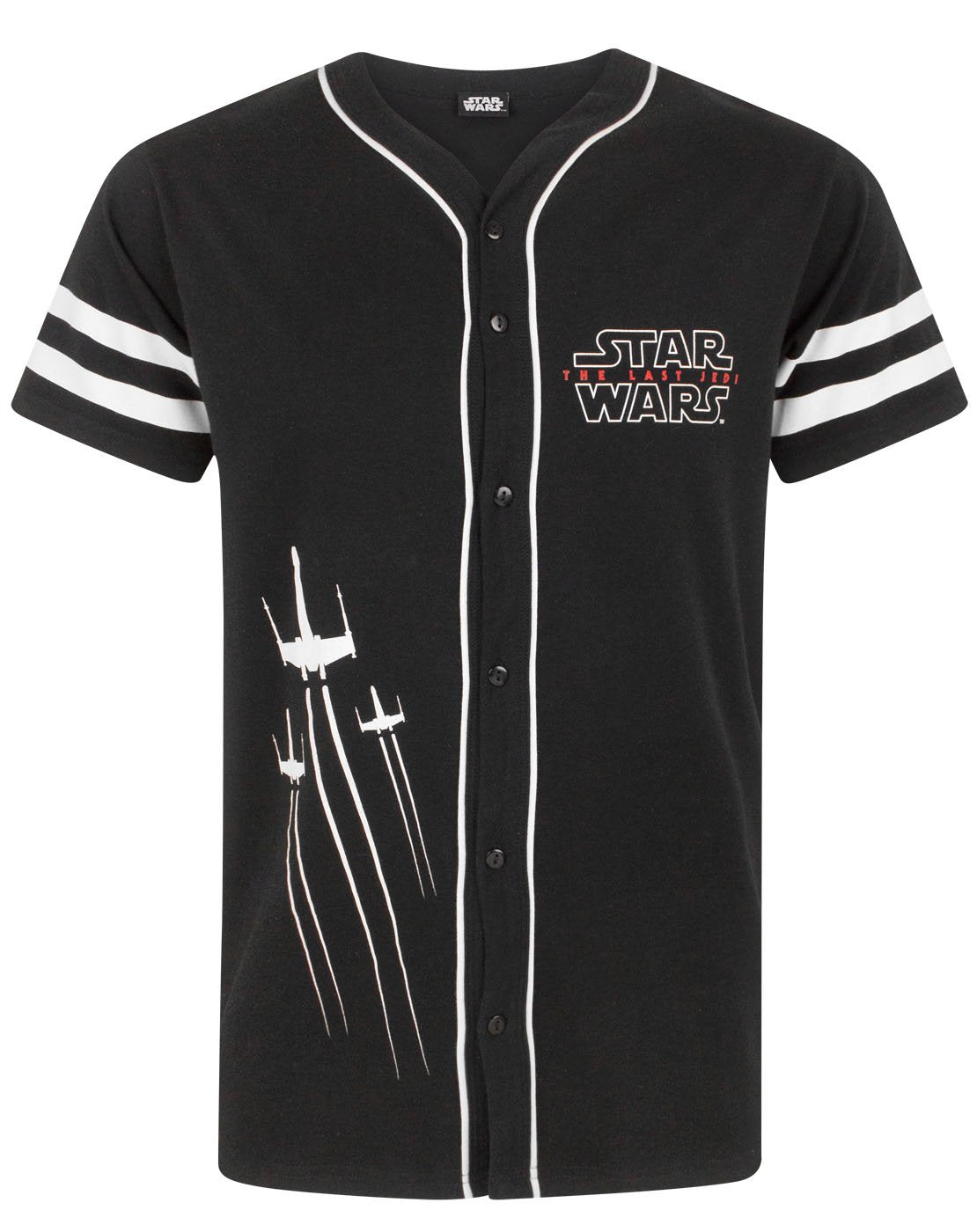 e73d401197b7 Star Wars The Last Jedi X-Wing Men's Baseball T-Shirt — Vanilla Underground