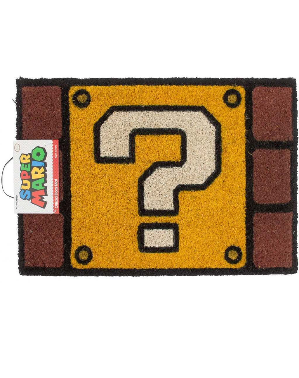 Super Mario Question Mark Block Door Mat