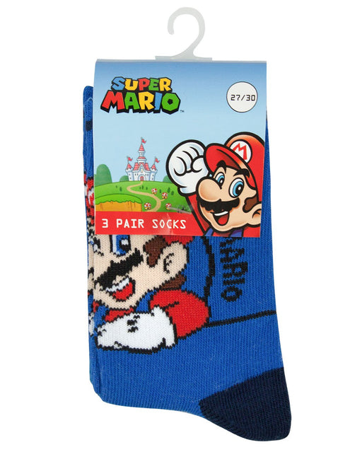 Super Mario Blue and Grey Socks Set