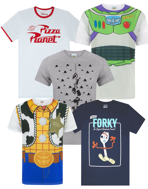 Disney Pixar Toy Story Woody Buzz Pizza Planet Claw Men's T-Shirt Various Styles