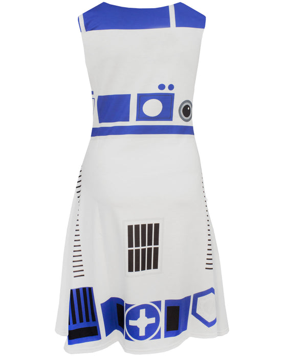 Star Wars R2D2 Women's Costume Dress Ladies Fancy Dress Party Cosplay