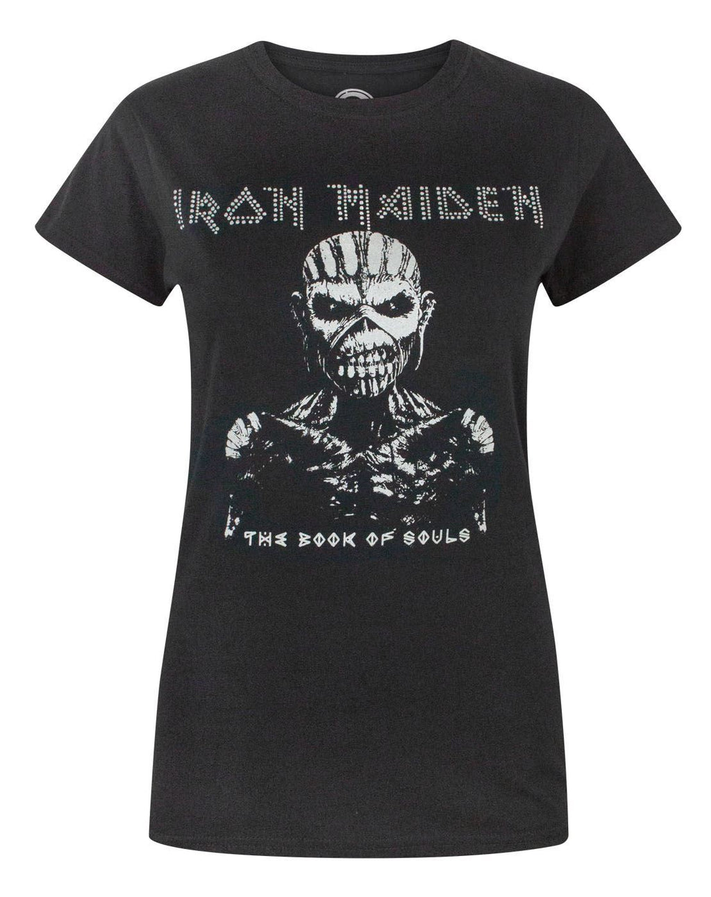 Iron Maiden Book Of Souls Women's Diamante T-Shirt