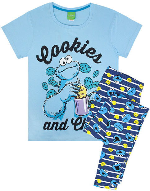 Sesame Street Cookie Monster Women's Pyjamas - Blue