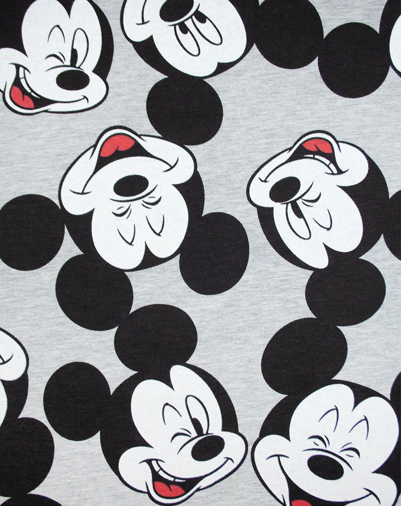 Disney Mickey Mouse Character All Over Print Women's Boyfriend Fit T-Shirt