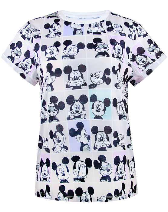 Disney Mickey Mouse Photobooth Selfie All Over Women/'s//Ladies Fashion T-Shirt