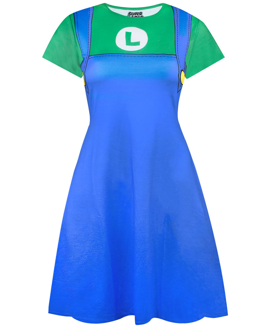 Super Mario Luigi Costume Dress