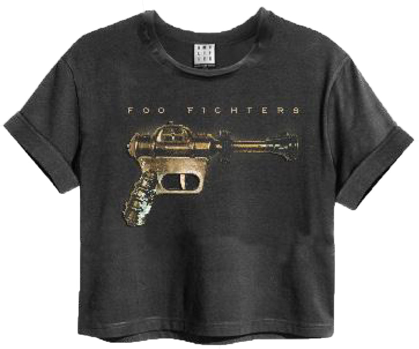 Amplified Foo Fighters Ray Gun Women's Cropped T-Shirt