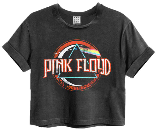 Amplified Pink Floyd On The Run Womens Cropped T-Shirt