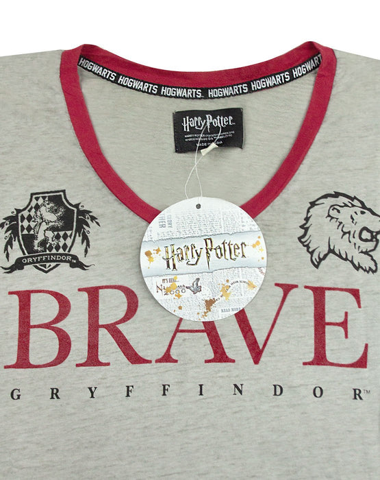 Harry Potter Gryffindor Brave Womens/Ladies Varsity T-Shirt Sizes S-XL