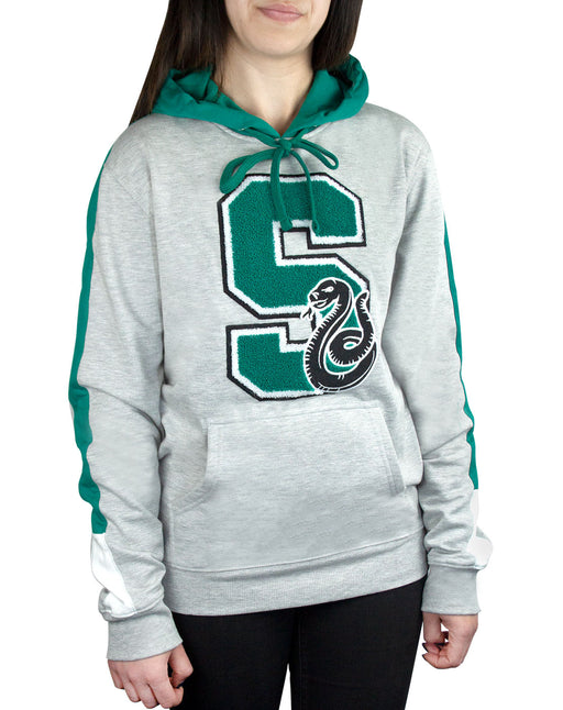 Harry Potter Hogwarts Slytherin S Patch Logo Premium Hoody/Hoodie