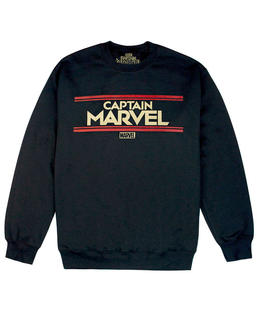 Marvel Captain Marvel Letters Womens Black Sweatshirt