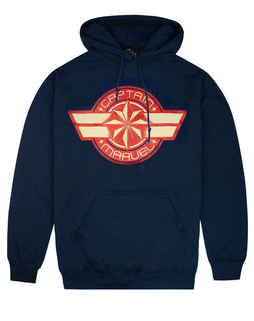 Marvel Captain Marvel Logo Womens Navy Hoodie