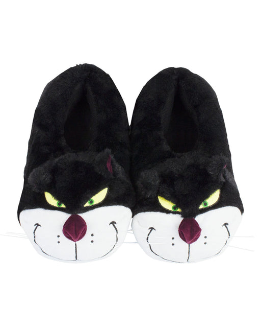 lucifer cat 3d cinderella film walt disney slipper black whiskers comfy shoes footwear nightwear prince fairy godmother ugly sisters for her gift woman's ladies women slippers