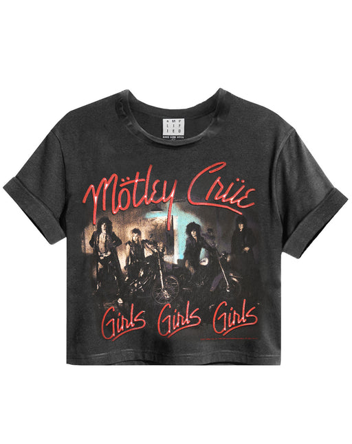 Amplified Motley Crue Girls Girls Girls Women's Cropped T-Shirt