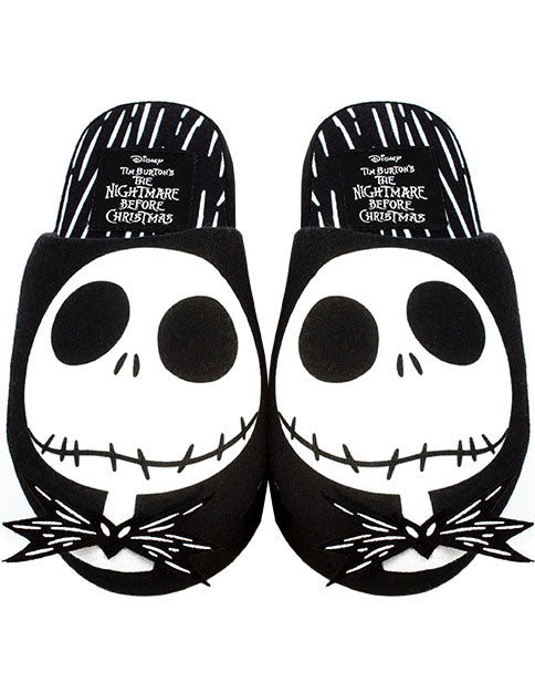 Disney The Nightmare Before Christmas Jack Skellington Face Women's Slippers