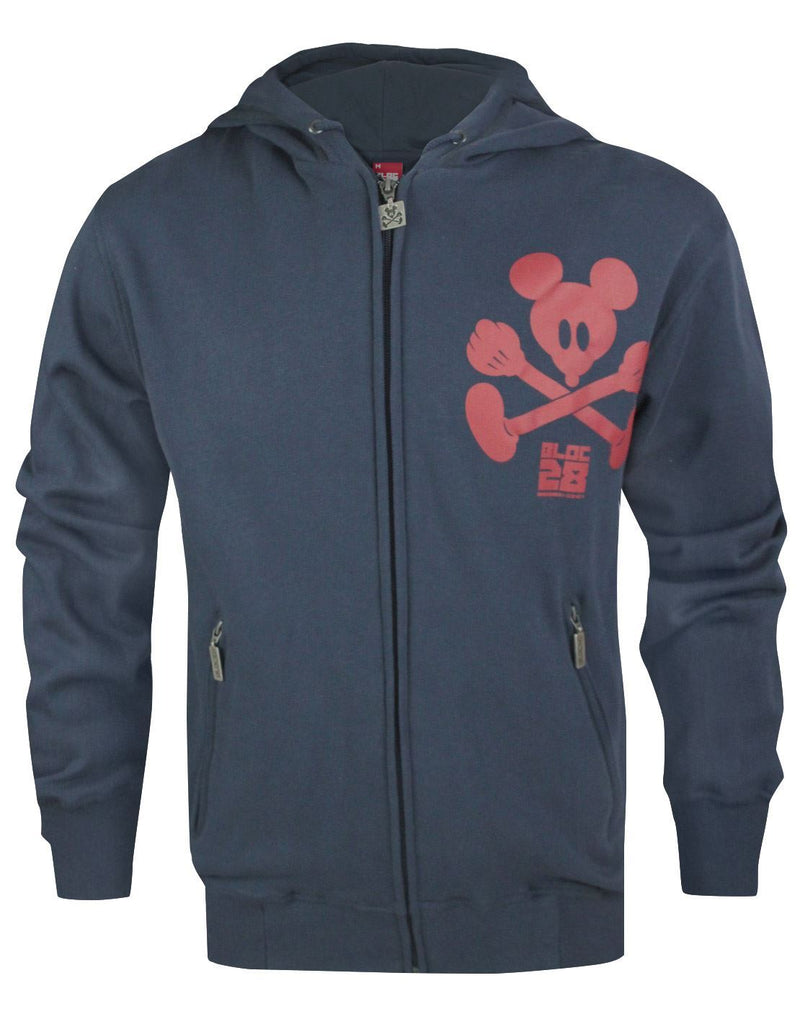 Bloc 28 Cross Bones Zip Up Men's Hoodie