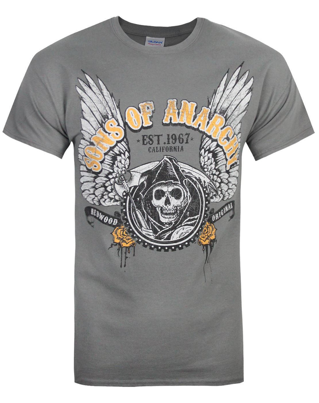 Officially Licensed Sons of Anarchy SOA 1967 Skull Women T-Shirt S-XXL Sizes