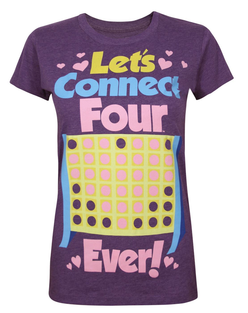 Goodie Two Sleeves Let's Connect Four Ever Women's T-Shirt