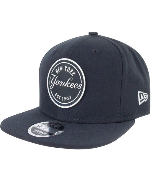 New Era 9Fifty MLB New York Yankees Rubber Emblem Navy Snapback Cap