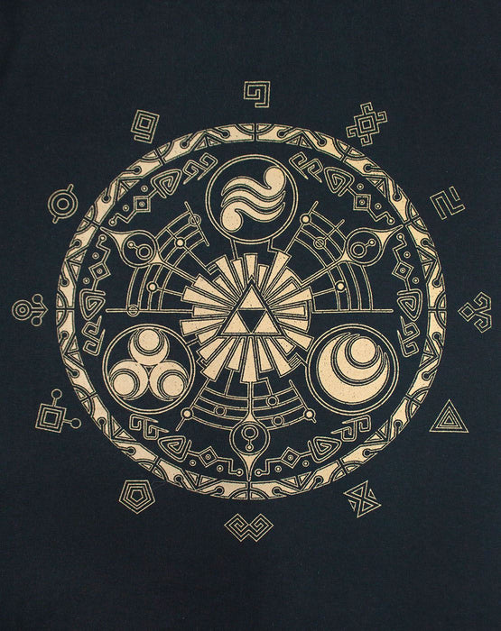 The Legend Of Zelda Runes Men's Black T-Shirt