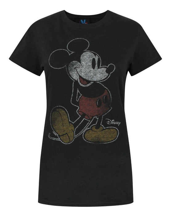 Junk Food Mickey Mouse Outline Women's T-Shirt